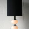 Large 1970s Chrome Glass Table Lamp 4