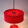 Vintage 1970s Red Table Lamp