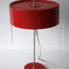 Vintage 1970s Red Table Lamp 3
