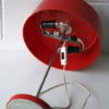 Vintage 1970s Red Table Lamp 4