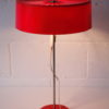Vintage 1970s Red Table Lamp 5