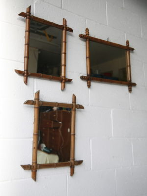 Vintage Bamboo Mirrors 1