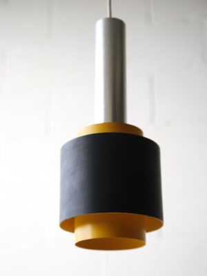 Vintage Yellow 1960s Ceiling Light by Courtney Pope UK