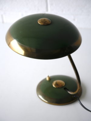 1950s Green Desk Lamp by Helo 3