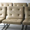 Cream Leather 1970s Chairs