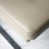Cream Leather 1970s Chairs 3