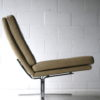 Cream Leather 1970s Chairs 4