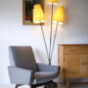 1950s Floor Lamp with Yellow Shades 1