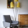 1950s Floor Lamp with Yellow Shades