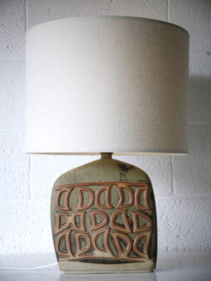 1960s Ceramic Lamp Base and Shade 1
