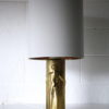 1960s Gold Glass Lamp Base and Shade