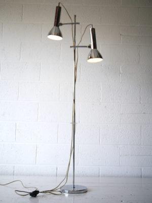 1970s Chrome Double Floor Lamp 1