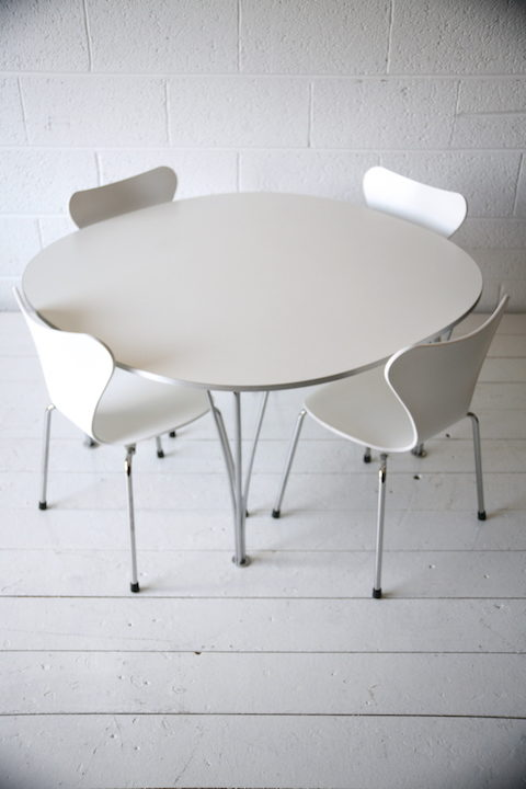 Childrens Series 7 Chairs and Piet Hein Table 1