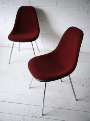 Upholstered Shell Chair by Charles Eames for Herman Miller
