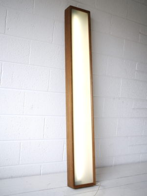 Vintage Teak Light Box 1