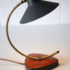 1950s Desk Lamp with Leather Base 1