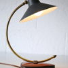 1950s Desk Lamp with Leather Base