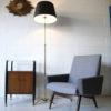 French 1950s Brass Floor Lamp