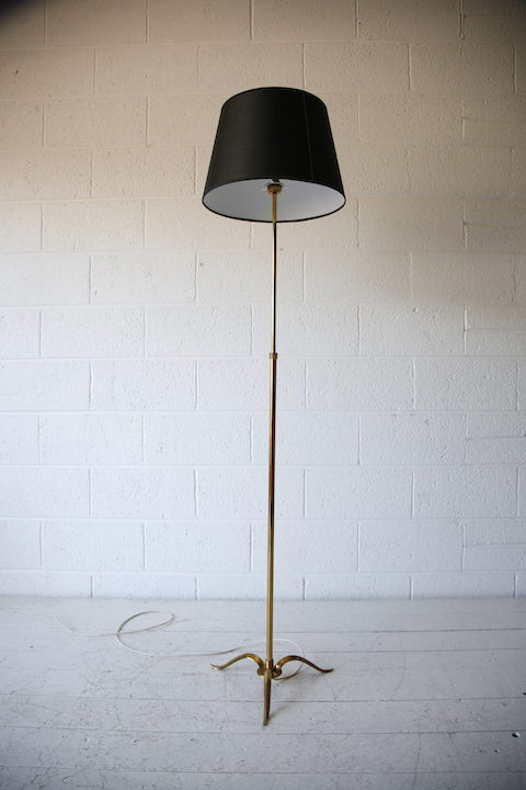 French 1950s Brass Floor Lamp 4