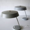 Pair 1950s Grey Desk Lamps