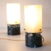 Pair of 1960s Shatterline Lamps 1