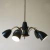 1950s Black Ceiling Light