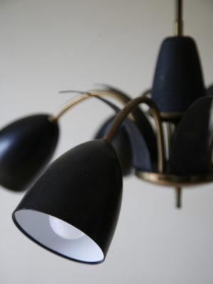 1950s Black Ceiling Light 3