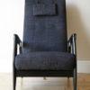 1950s Black Reclining Chair