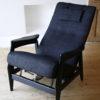 1950s Black Reclining Chair 4