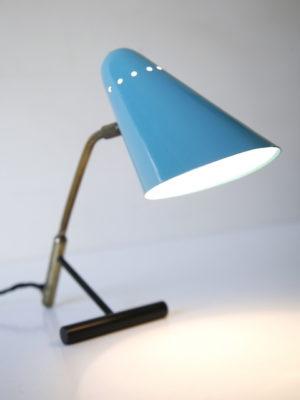 1950s Blue Brass Desk Lamp 3