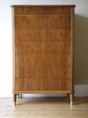 1950s Danish Chest of Drawers by Omann Jun