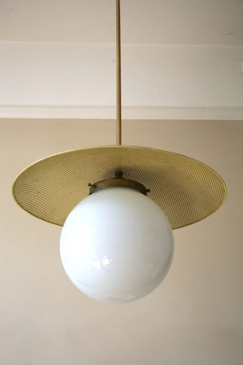 1950s French Ceiling Light 5
