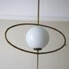 1950s Glass Brass Ceiling Light 3