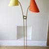 1950s Orange Yellow Brass Floor Lamp 6