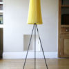 1950s Tripod Floor Lamp with Pleated Shade 1