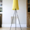 1950s Tripod Floor Lamp with Pleated Shade 2