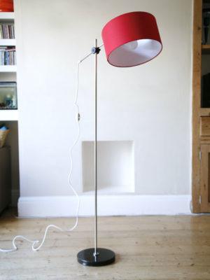1960s Red Floor Lamp 5