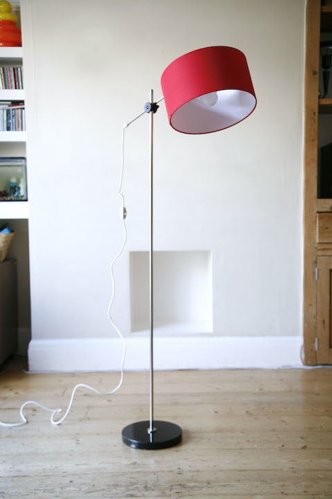 1960s Red Floor Lamp 5
