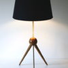 1950s French Brass Tripod Table : Floor Lamp