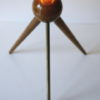 1950s French Brass Tripod Table : Floor Lamp 2
