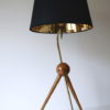 1950s French Brass Tripod Table : Floor Lamp 6