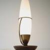 1950s Glass Brass Teak Lamp 1