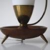 1950s Glass Brass Teak Lamp 3
