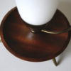 1950s Glass Brass Teak Lamp 7