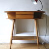 1950s Oak Console Table 1