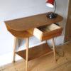 1950s Oak Console Table 3