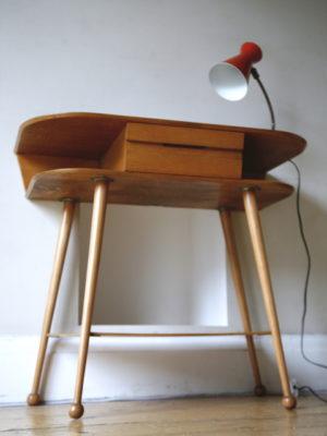 1950s Oak Console Table