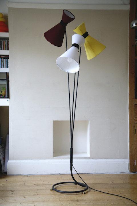 1950s Triple Floor Lamp