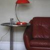 1950s Vintage Orange Bakelite Table Lamp from Helion Arnstadt 1
