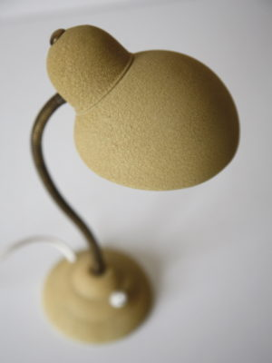 1950s Yellow French Desk Lamp